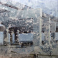 "Double Exposure, acrylic on canvas, 36"" x 36"", 2009, from the Urban Archaeology series by Pat Stanley"