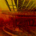"Convergence Zone, acrylic on canvas, 24"" x 24"", 2010, from the Urban Archaeology series by Pat Stanley"