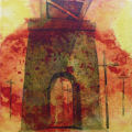 "Port Hope Viaduct 2, acrylic on canvas, 12"" x 12"", 2010, SOLD by Pat Stanley"